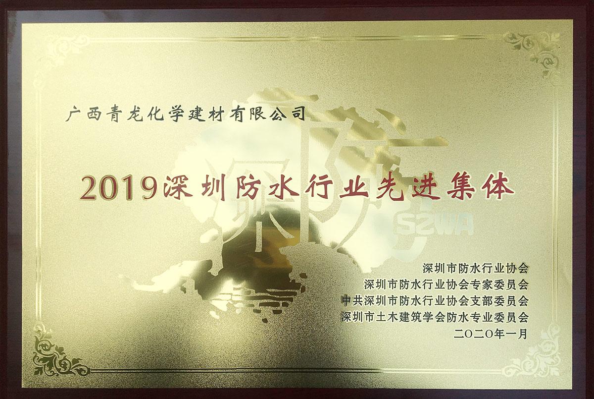 2019深圳防水行业协会先进集体奖